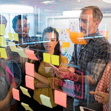 team collaborating in workshop