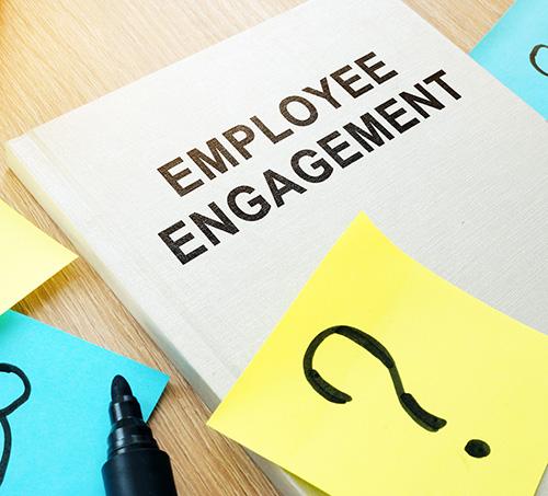 Photo illustration of employee engagement