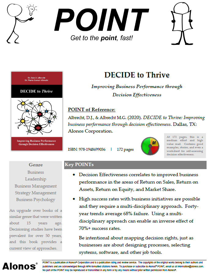 cover image for POINT on DECIDE to Thrive