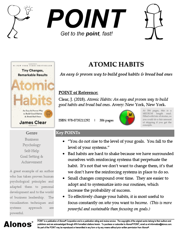 cover image for the POINT on Atomic Habits