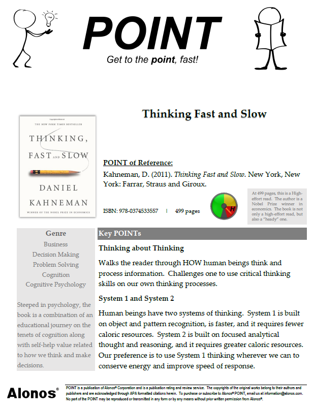 cover image for The POINT on Thinking Fast and Slow